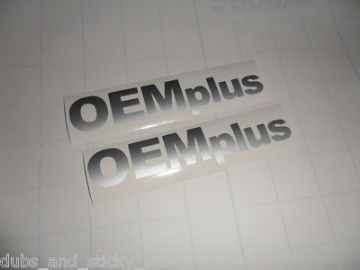 OEM Plus' sticker ,Decal. ideal for genuine oem+ vw golf, GTI,bora ,passat,Lupo, Corrado, g60, R32,